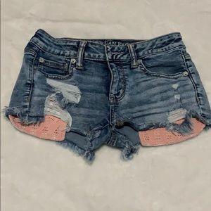 American Eagle Jean Shorts Size 4